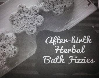 postpartum soothing sitz bath// new mom healing fizzies// newborn