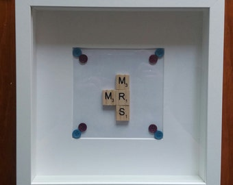 Handmade Mr and Mrs picture
