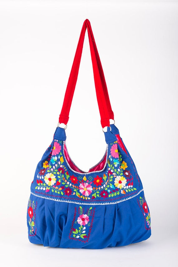 Embroidered mexican bag dress