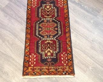 Unique Handmade Kurdish Family Carpet  From Village 2x4 Size