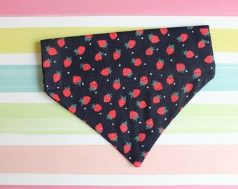 XS Strawberries Dog Bandana