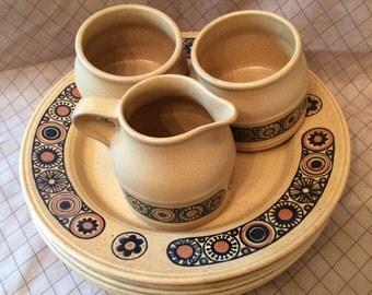 Bacchus Kiln Craft incomplete dinnerware set