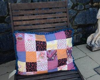 Boho chic squishy patchwork cushion