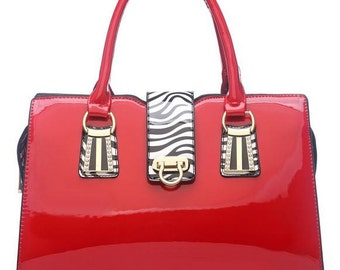 Red Touch Of Zebra Bag