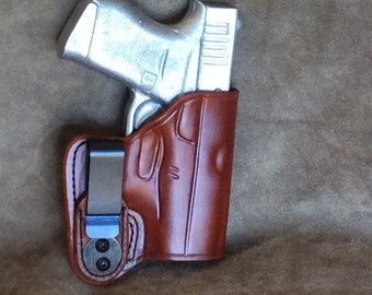 Glock 43 Concealed IWB Tuckable Leather Holster