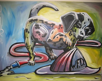 Dalmatian puppy acrylic panting-30X40in original baby room decorations