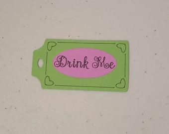 "Alice in Wonderland ""Drink Me"" Tags (15)"
