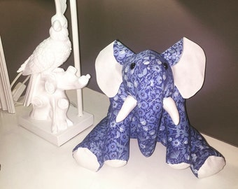 Handmade stuffed elephant
