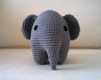 Crocheted elephant plush-Crocheted elephant