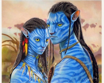Neytiri and Jake Sully - Avatar | Original