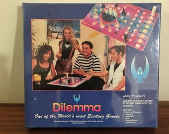 """Vintage 1990 Board Game """"Dilemma"""" Strategy Game / Unopened in Box / Made in Australia"""