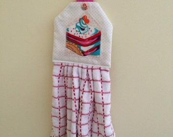 Oven door hand towel , teachers gifts, gifts for her, engagement gifts, cake lovers gifts