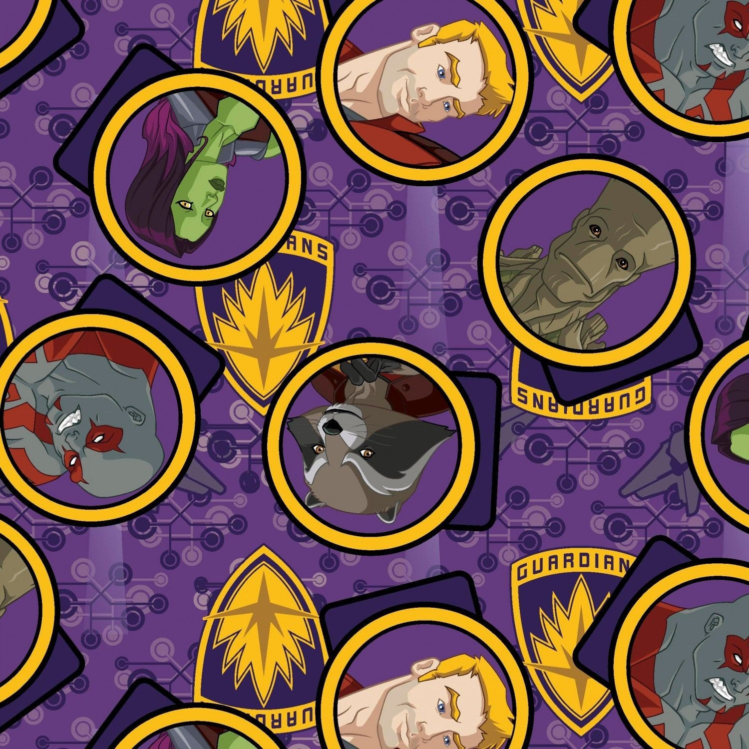 Marvel fabric comics fabric marvel guardians of the for Galaxy material fabric