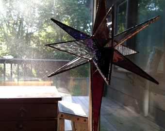 3D stained glass stars