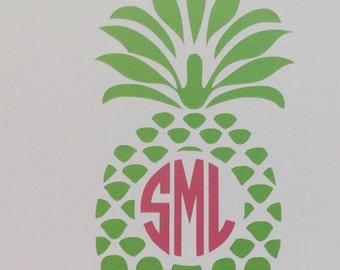 Pineapple with monogram