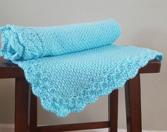 Handmade Crochet Baby Toddler Stroller Blanket Afghan  *BENEFITS CHARITY*