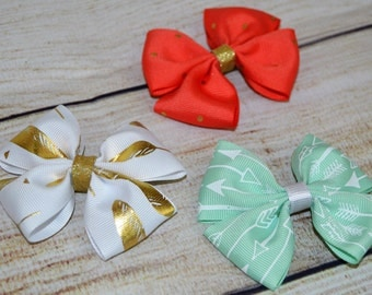 Gold, Mint and Melon 3 Inch Bows!