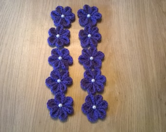 handmade crochet flowers pack of 10