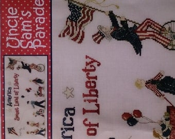 Embroidery Pattern, Uncle Sam's Parade, American Themed