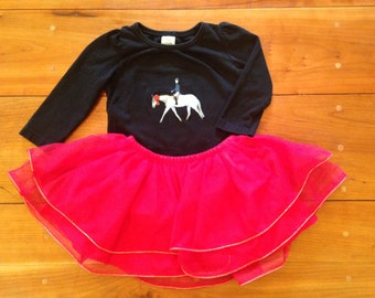 Shirt and Tutu with Horse and Rider, Size 18 months
