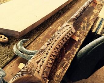 Samoan Wood Carving and Weapon (Nifo Oti)