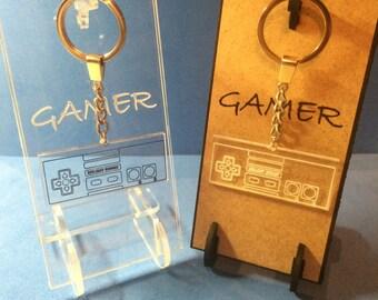 keychain NES keychain gamer keychain nintendo gamer gift