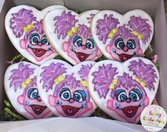 Sesame Street Abby Cadabby Cookies - 1 Dozen (12 Cookies)