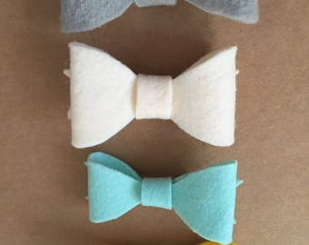 4-Pack Felt Alligator Bows