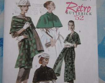 Butterick 4927 1952 Reproduction Wrap and Capelet Sewing Pattern