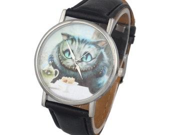 Cheshire Cat Watch - Alice In Wonderland - Wrist Watch