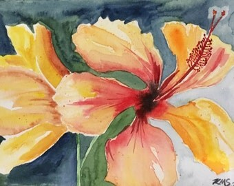 """Original Watercolor """"Vibrant Flowers"""""""