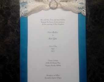 """From our wedding invitation line: """"Vintage blue for you"""""""