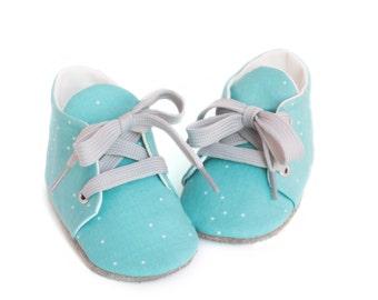 Babyshoes Sprinkel Blue - soft soled shoes