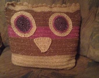 OWL pillows in glitter look