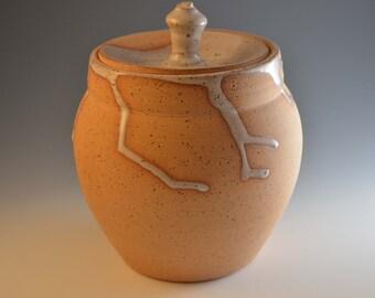 Lidded stoneware jar