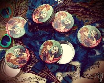 MYOSOTYS - pillbox tins can box - style fantasy fairy tales mask costum ball carnival venice maiden romantic flower
