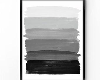 wall art printable, art print, wall decor, office decor, home decor, printable art, graphic art, instant download, watercolor, black white