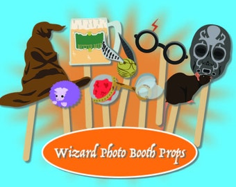 Harry Potter Photo Booth Props Instant Download PDF