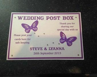 A4 wedding postbox sign