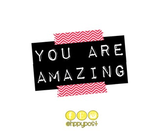 You Are Amazing Black and Pink
