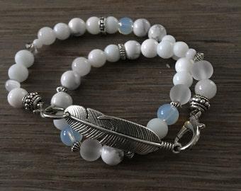 Bracelet Boho natural beads
