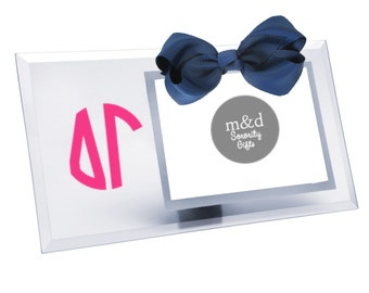 Delta Gamma Picture Frame | Glass picture frame with or without bow