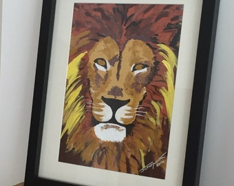 Lion Original Painting Acrylic