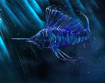 Sailin' In The Dark  -  Acrylic on Canvas Painting