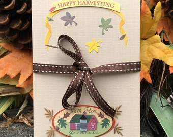 Happy Harvesting - Accordion Photo book - Photo Album - Fall Scrapbook - Brag book