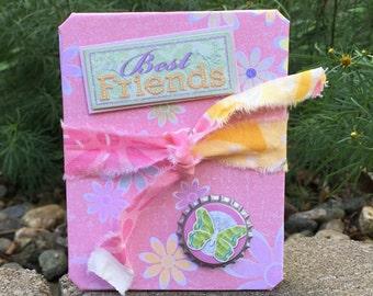 Best Friends - Accordion Photo book - Photo album - scrapbook - Journal - Fun book - Brag book