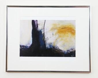 "Print of Original Acrylic Painting: Purple Arboresque 8.5x11"""
