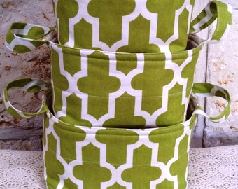 "Set of 3 Fabric Boxes ""Lattice"""