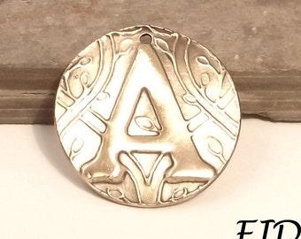 Bronze Initial Pendants