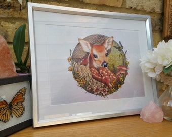 The Shy Fawn Print